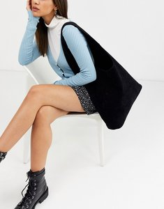 Read more about Glamorous slouchy tote bag in black suede look