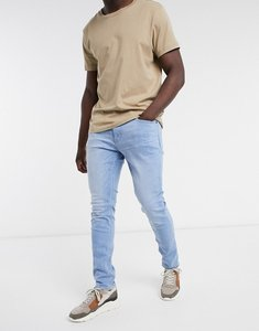 Read more about Hollister skinny jean in super light bright medium wash-blue