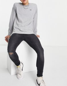 Read more about Il sarto super skinny ripped jean in washed black