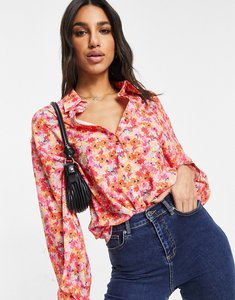 Read more about In the style oversized shirt in floral-multi