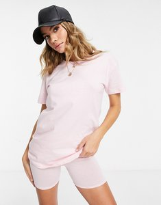 Read more about In the style oversized t-shirt and legging shorts set in pink