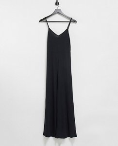 Read more about In the style ribbed culotte jumpsuit in black