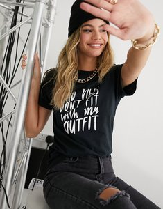 Read more about In the style slogan t-shirt in black