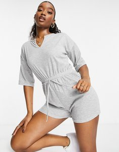 Read more about In the style tie waist playsuit in grey