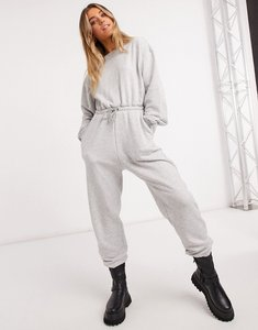 Read more about In the style x olivia bowen drawstring waist slouchy jumpsuit in grey
