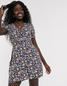 Read more about Influence mini tea dress in floral print-multi