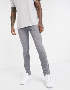 Read more about Jack jones intelligence skinny fit super stretch jeans in light grey