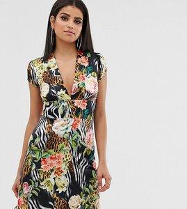 Read more about John zack tall mini tea dress in tropical print-multi
