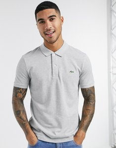 Read more about Lacoste classic polo in french pique with croc in grey