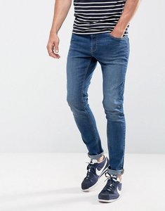 Read more about Ldn dnm super skinny spray on stretch jeans in indigo-blue