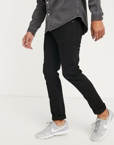 Read more about Lee jeans luke slim tapered jeans in black wash