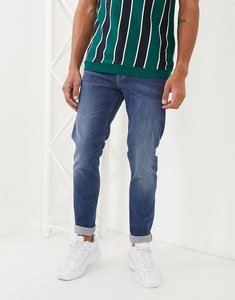 Read more about Lee jeans malone skinny jeans in blue wash-navy