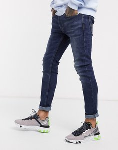 Read more about Levi s youth 519 super skinny fit hi-ball roll jeans in can can advanced stretch dark wash-blue