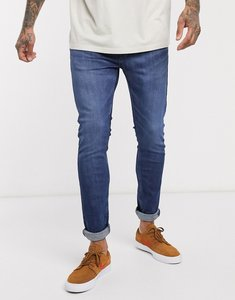 Read more about Levi s youth 519 super skinny fit hi-ball roll jeans in myers day advanced stretch dark vintage wash