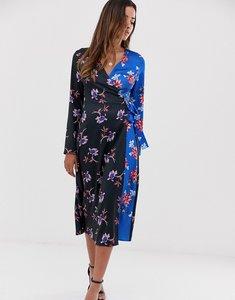 Read more about Liquorish midi dress in floral mix print-multi