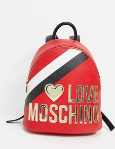 Read more about Love moschino large logo backpack in red