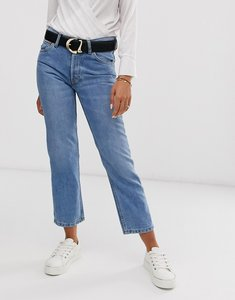 Read more about Mango crop mom jeans-blue