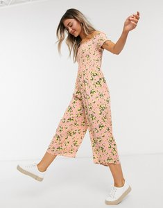 Read more about Miss selfridge shirred jumpsuit in pink