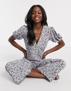 Read more about Miss selfridge wide leg jumpsuit in black floral