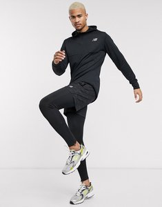 Read more about New balance running tenacity quarter zip hooded jacket in black