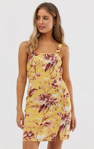 Read more about New look floral print dress in yellow pattern