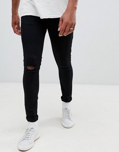 Read more about New look skinny jeans with knee rip in black wash