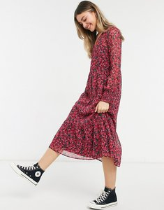 Read more about New look smock midi dress in red floral print