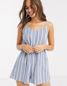 Read more about New look stripe tie back beach playsuit in blue