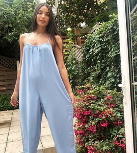 Read more about New look tall wide leg jumpsuit in mid blue