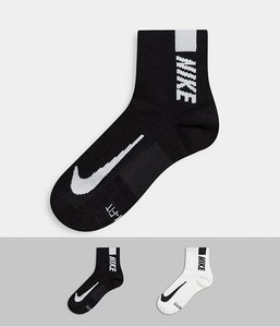 Read more about Nike running 2 pack logo ankle socks-multi
