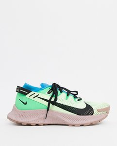 Read more about Nike running pegasus trail 2 trainers in green