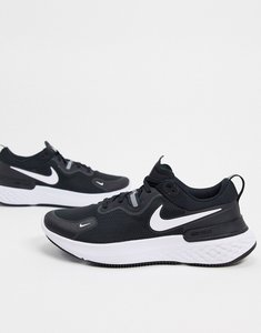 Read more about Nike running react miler trainers in black