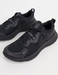 Read more about Nike running react miler trainers in triple black