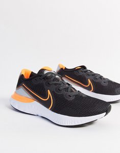 Read more about Nike running renew trainers in black
