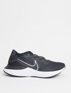 Read more about Nike running renew trainers in black white