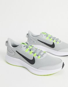 Read more about Nike running run all day 2 trainers in grey-black