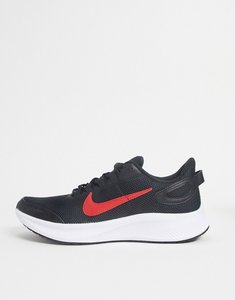 Read more about Nike running run all day trainers in black and red