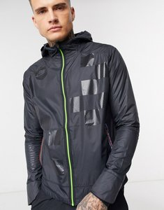 Read more about Nike running run wild pack shield jacket in black