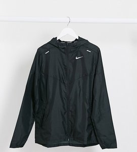 Read more about Nike running tall windbreaker jacket in black