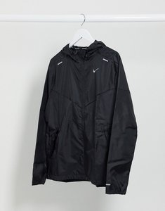 Read more about Nike running windrunner hooded jacket in black