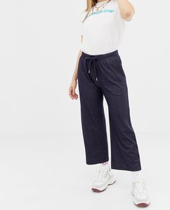 Read more about Noisy may denim look jersey tie waist culottes-blue