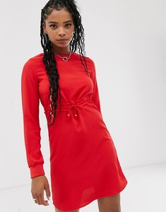 Read more about Noisy may long sleeve shift dress-red