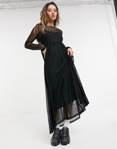 Read more about Noisy may mesh maxi dress in black