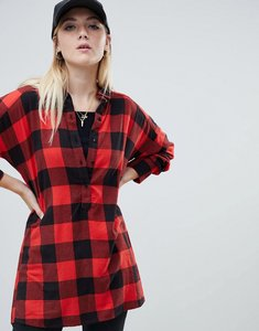 Read more about Noisy may oversized check shirt-multi