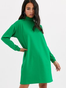 Read more about Noisy may oversized jumper dress-green