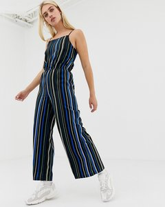 Read more about Noisy may stripe wide leg cami jumpsuit-multi