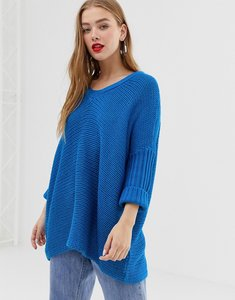 Read more about Noisy may v-neck oversized jumper-blue