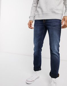 Read more about Nudie jeans co grim tim slim straight fit jeans in ink navy-blue