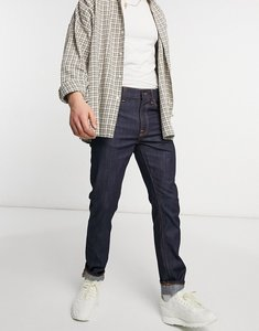 Read more about Nudie jeans co lean dean slim tapered fit jeans in dry ecry embo-blue