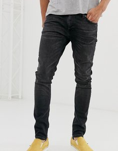 Read more about Nudie jeans co skinny lin skinny fit jeans in worn black wash